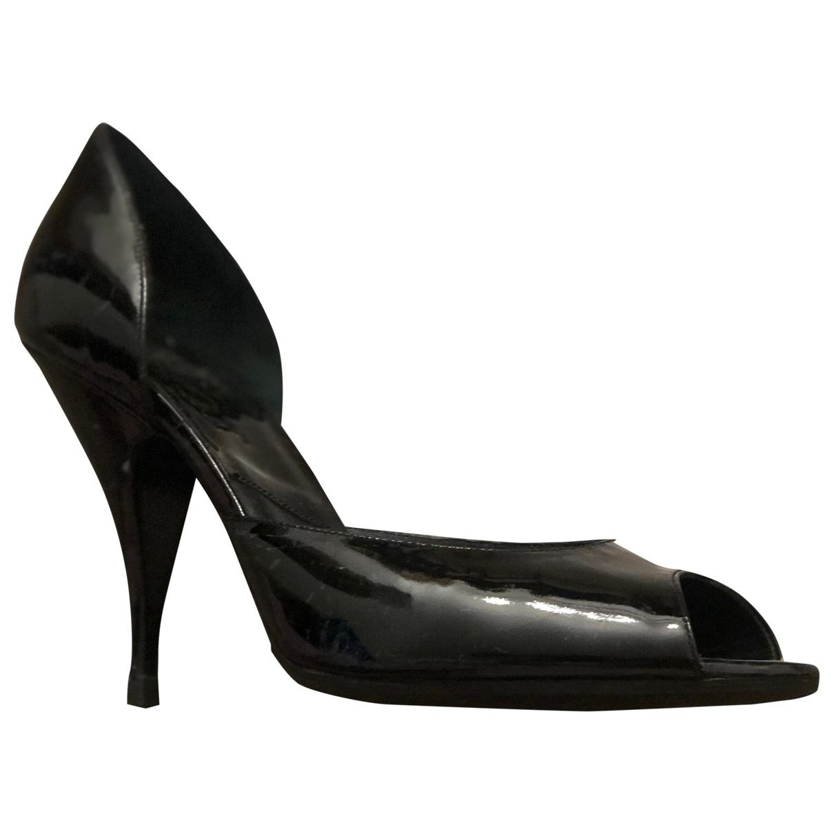 Dior - Escarpins   pour femme en cuir verni - noir