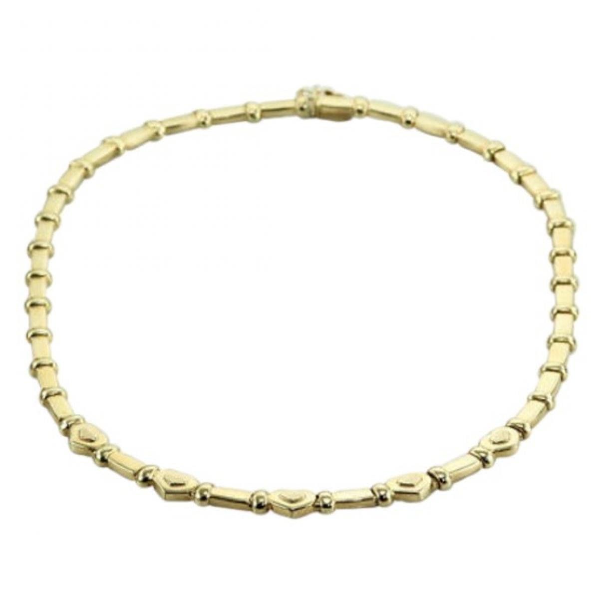 - Collier Motifs Coeurs pour femme en or jaune - dore