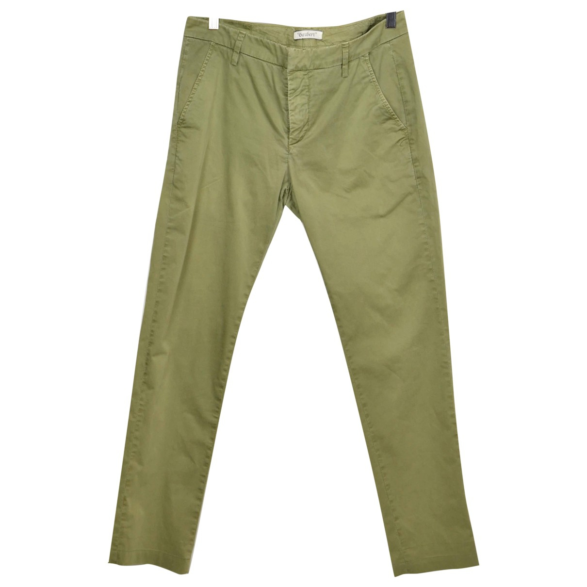 Pantalones en Algodon Verde Dondup