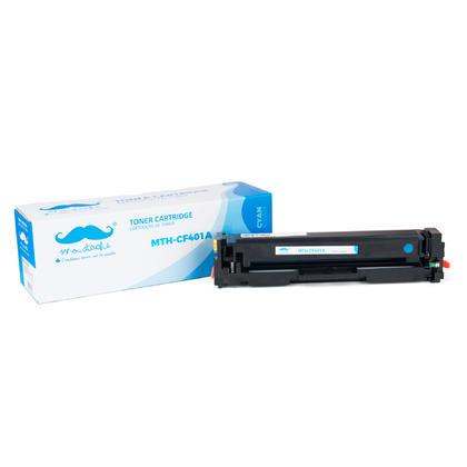 Compatible HP 201A CF401A cartouche de toner cyan - Moustache