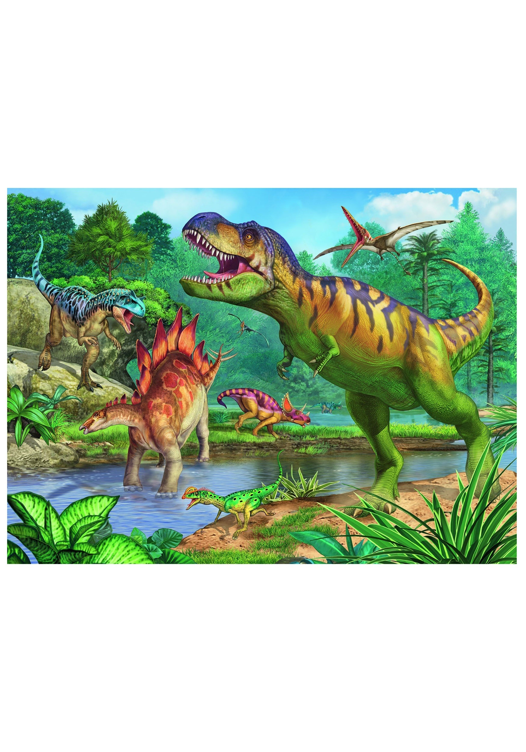 World of Dinosaurs 100 Piece Ravensburger Puzzle and Coloring Book