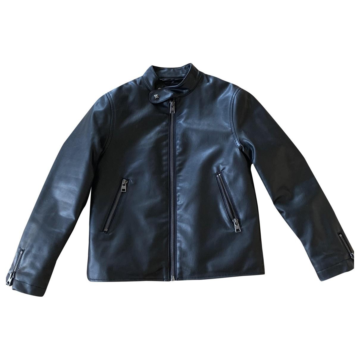 John Richmond - Blousons.Manteaux   pour enfant en cuir - noir