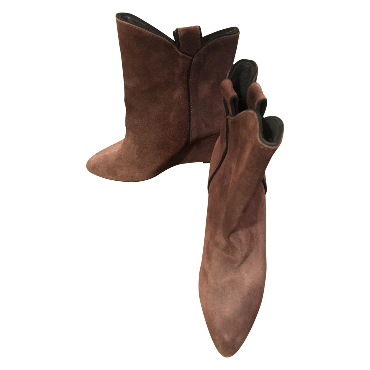 Bel Air \N Brown Suede Ankle boots for Women 38 EU