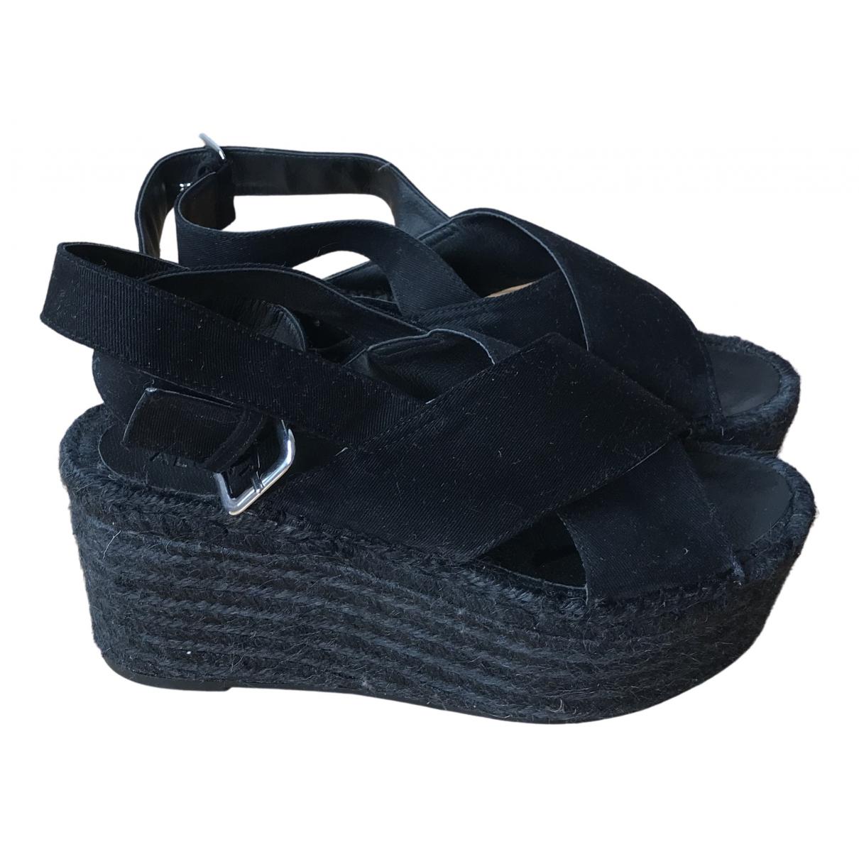 Alohas \N Black Cloth Sandals for Women 40 EU