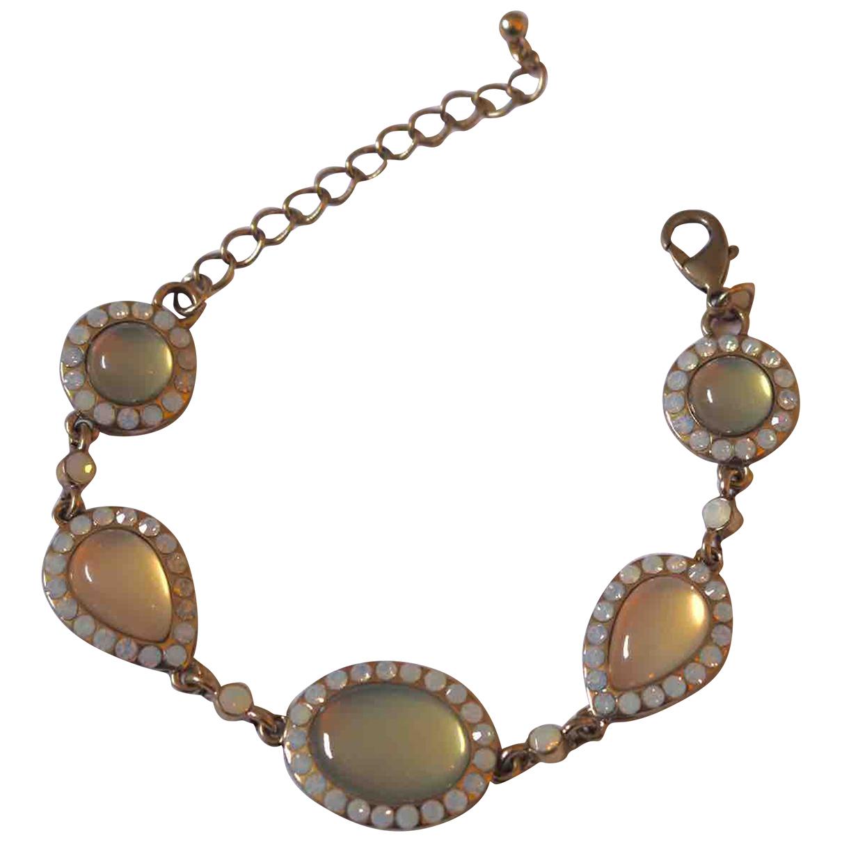 Non Signé / Unsigned Motifs Ethniques Beige Metal bracelet for Women N