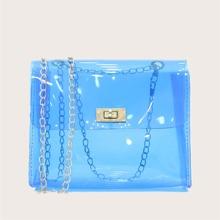 Clear Chain Crossbody Bag