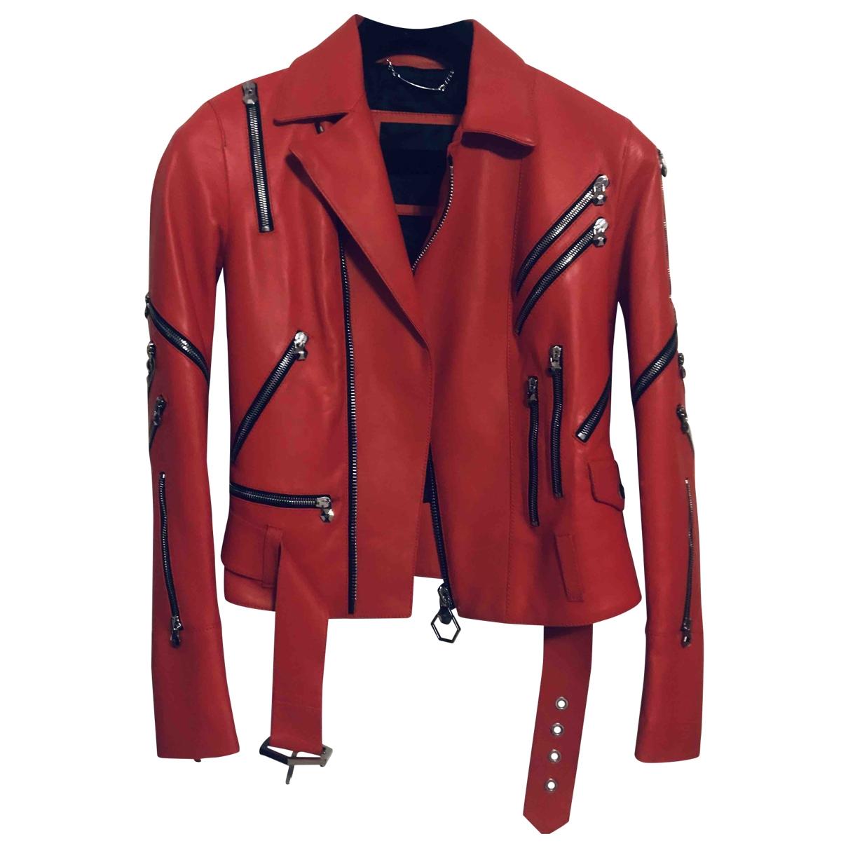 Philipp Plein \N Jacke in  Rot Leder
