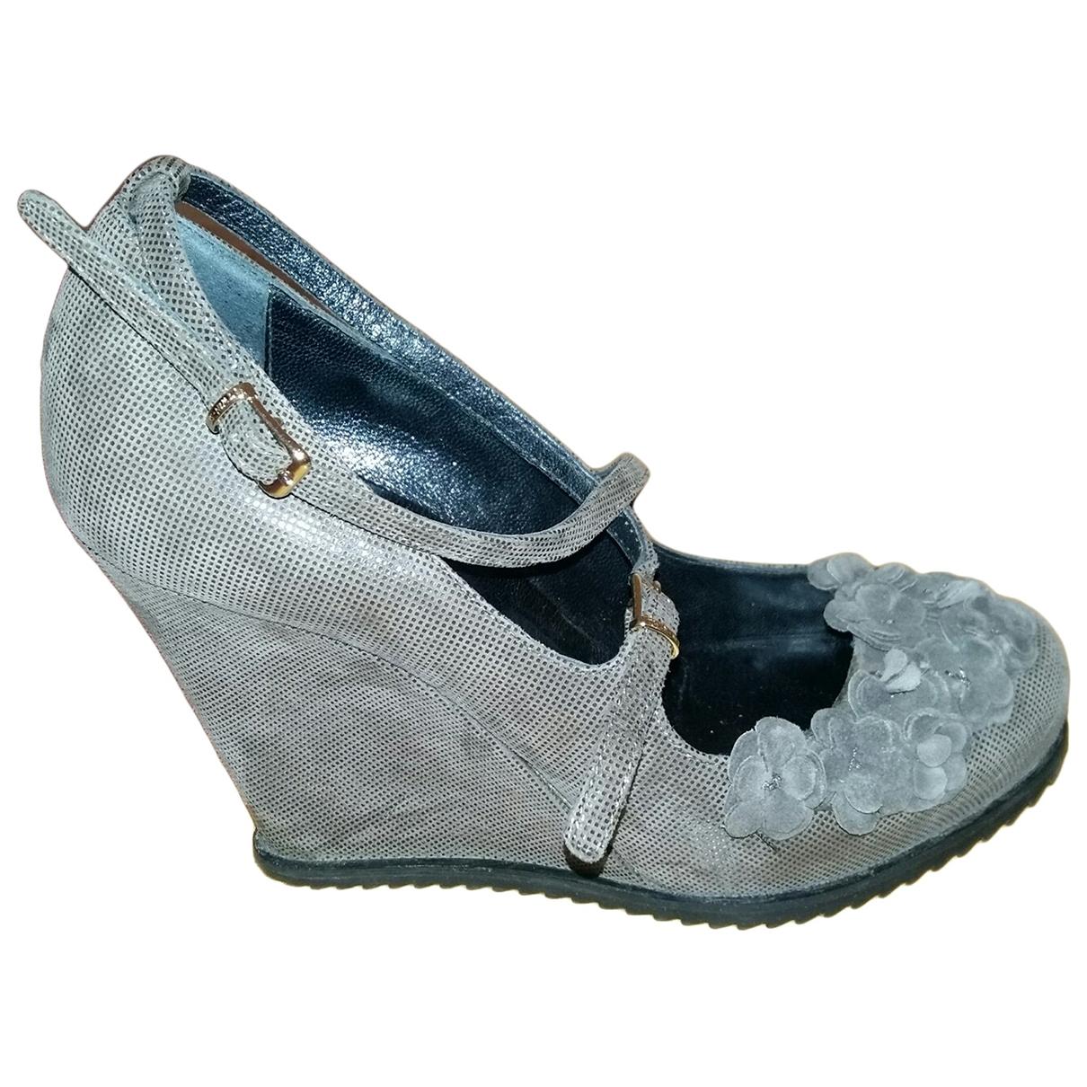 Twin Set \N Brown Leather Heels for Women 37 EU