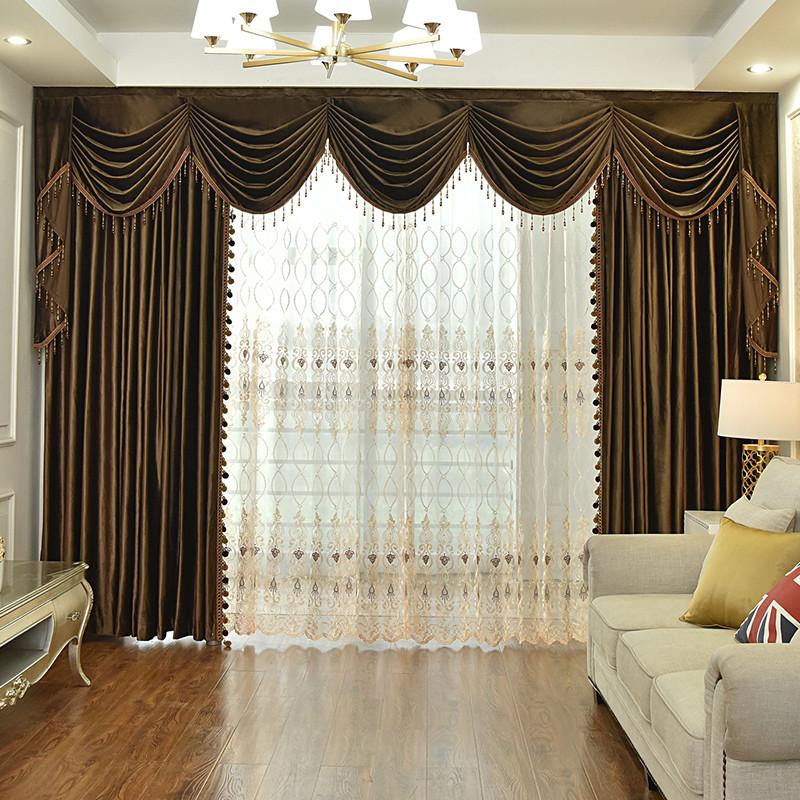 Luxury Velvet Custom Blackout Curtains Never Fading Cracking Peeling or Flaking Prevents UV Ray Excellent Performance on Room Darkening