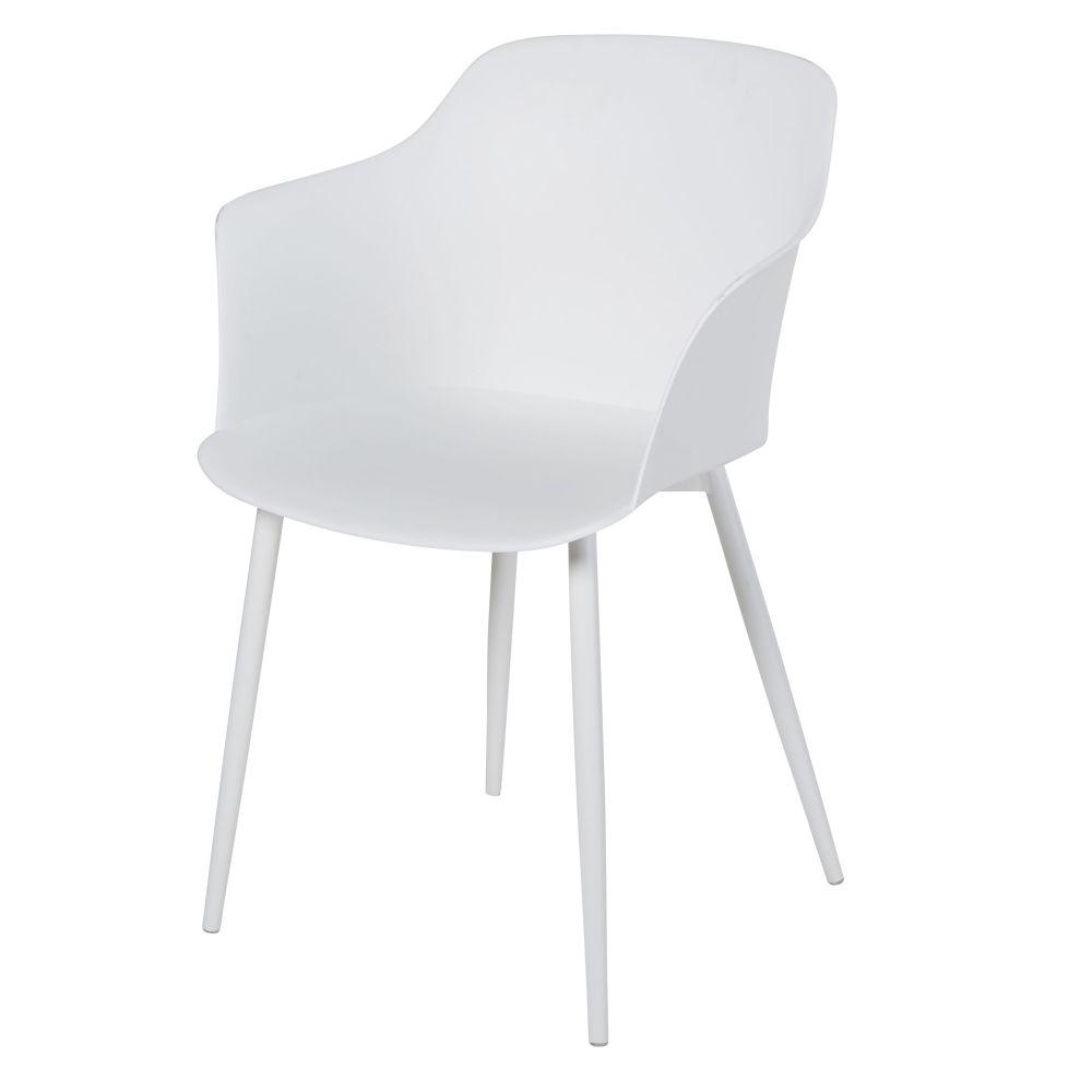 Weisser Sessel mit Metall Will