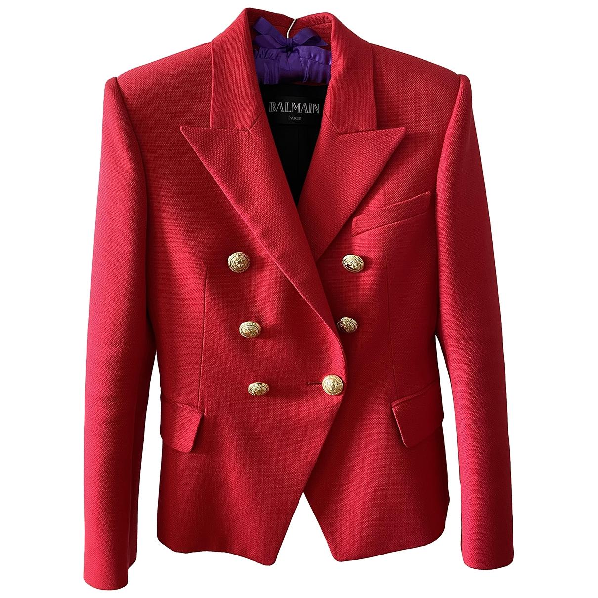 Balmain - Veste   pour femme - rouge