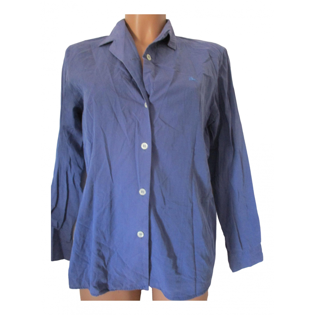 Burberry \N Blue Cotton  top for Women 42 IT