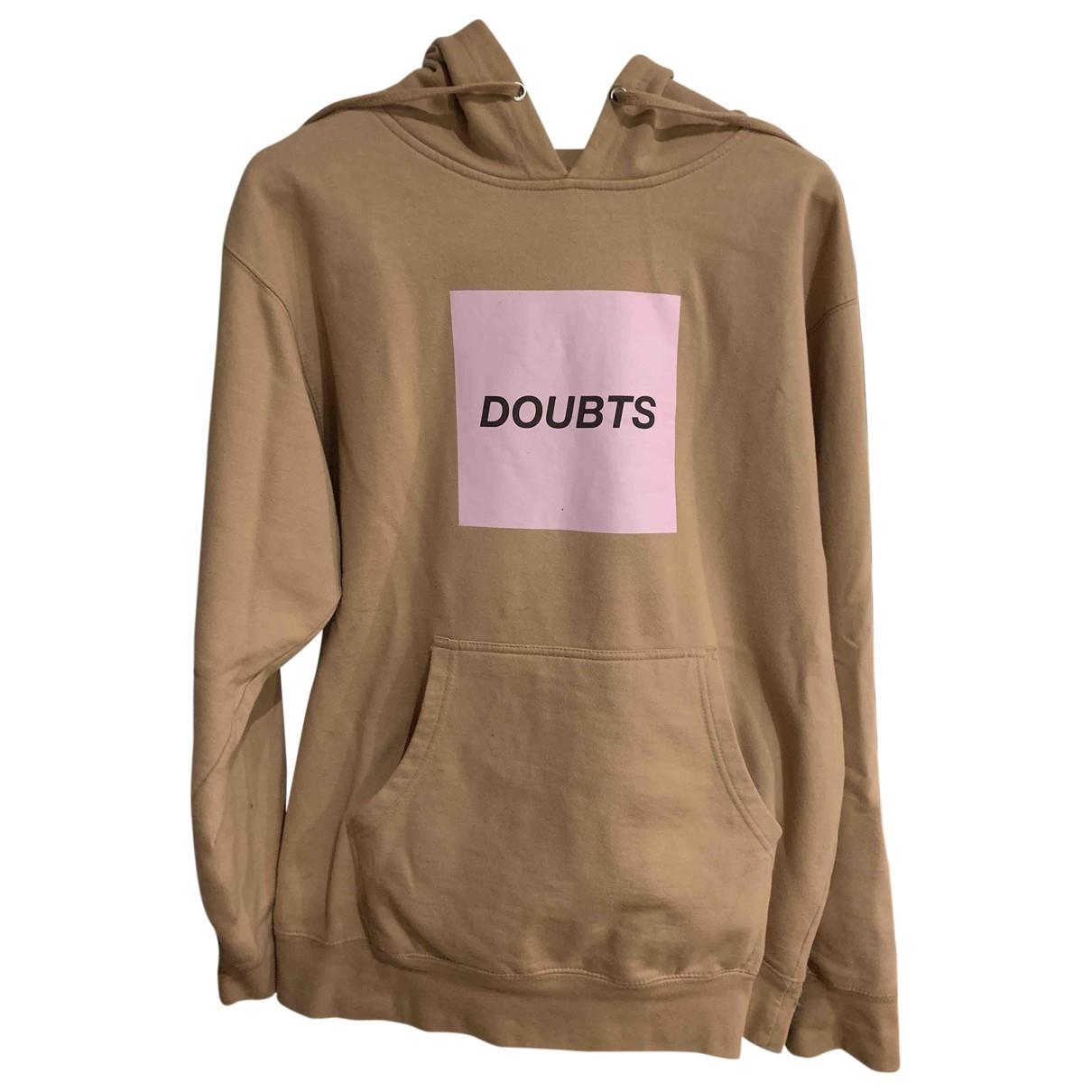 Anti Social Social Club \N Pullover.Westen.Sweatshirts  in  Beige Baumwolle