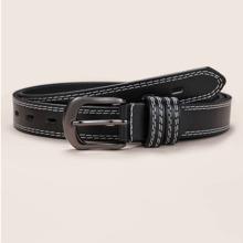 Cinturon con hebilla ribete con puntada