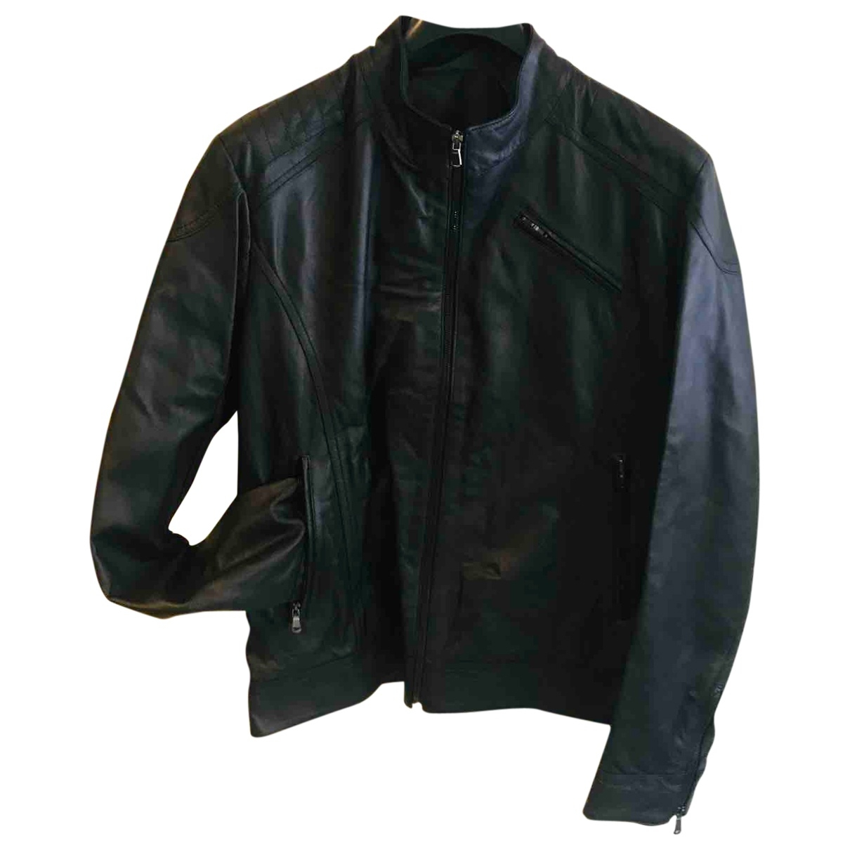 Non Signé / Unsigned \N Black Leather jacket  for Men 54 IT