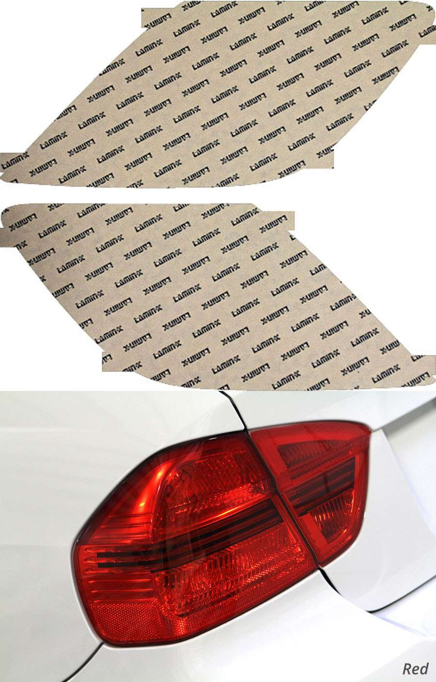 Acura RL 05-08 Red Tail Light Covers Lamin-X AC211R