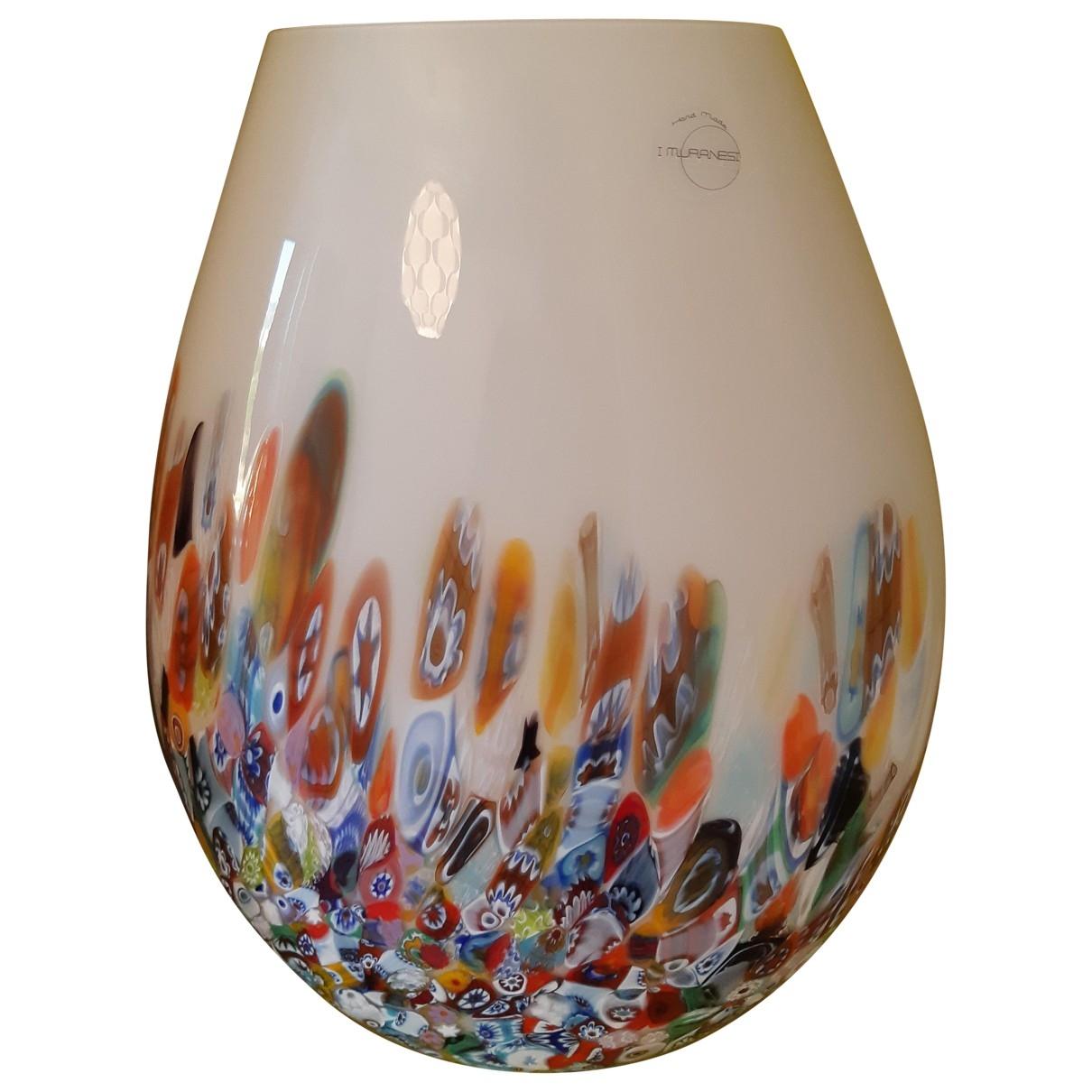Non Signe / Unsigned \N Accessoires und Dekoration in  Weiss Glas