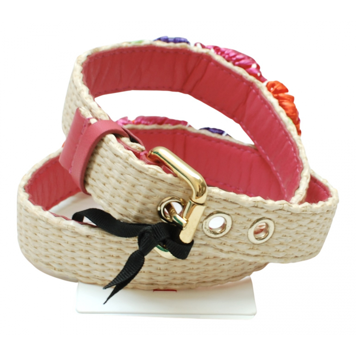 Red Valentino Garavani N Beige Leather belt for Women 80 cm