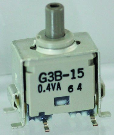 NKK Switches Single Pole Double Throw (SPDT) Momentary Push Button Switch, PCB