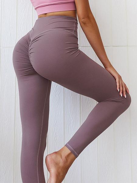 Milanoo Pantalones de yoga Mujer Leggings de entrenamiento elasticos