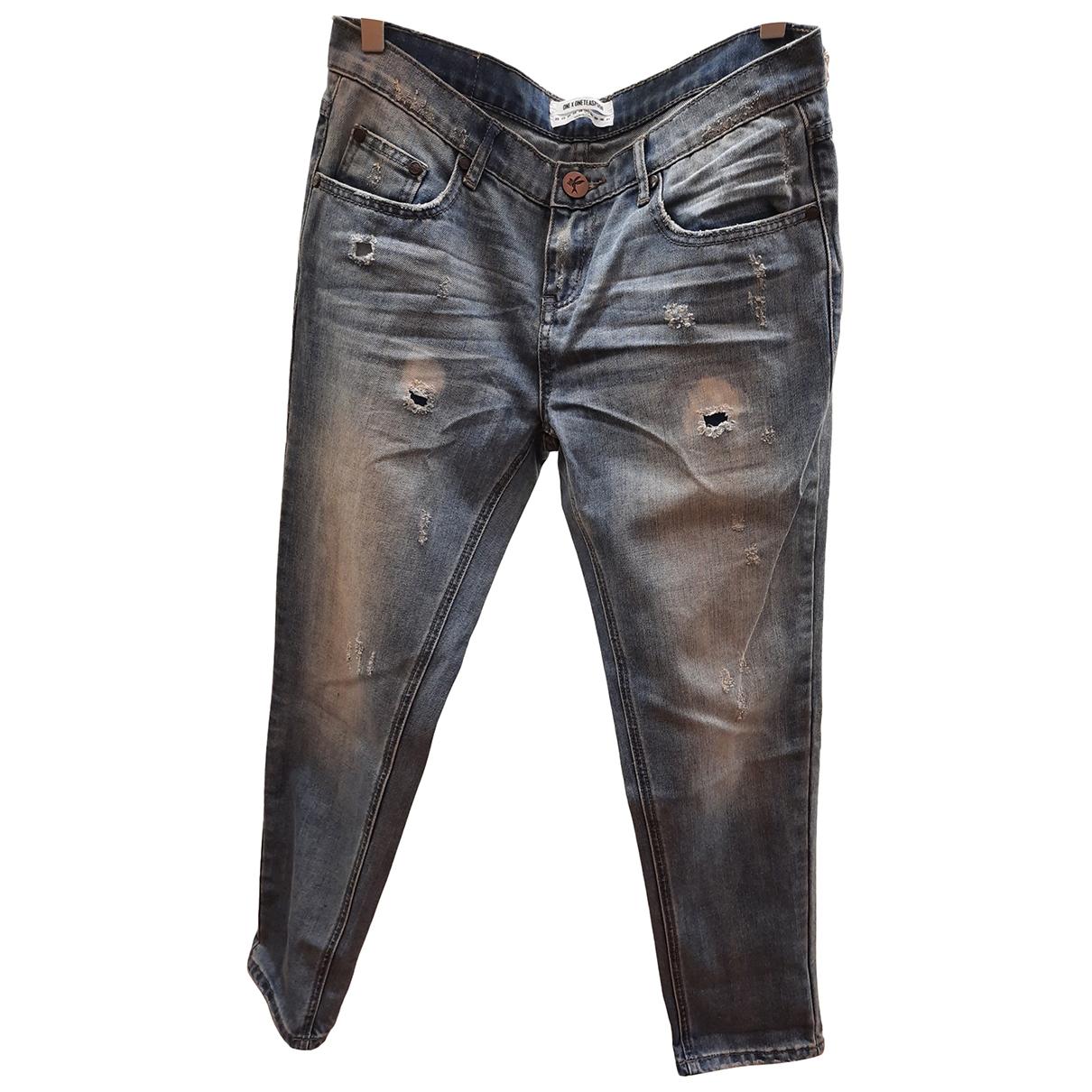 One Teaspoon \N Blue Denim - Jeans Trousers for Women 40 IT