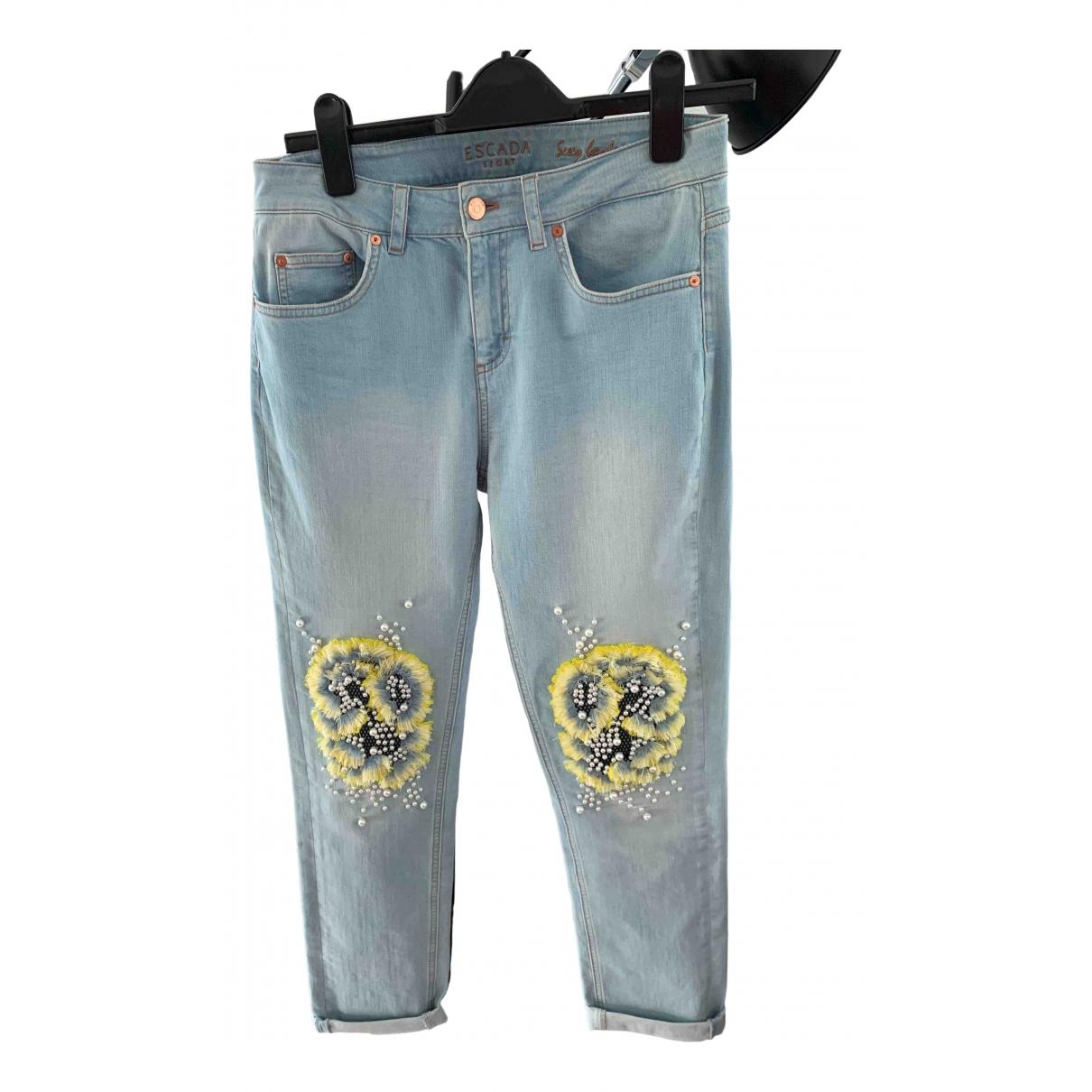 Escada \N Blue Cotton Jeans for Women 34 FR
