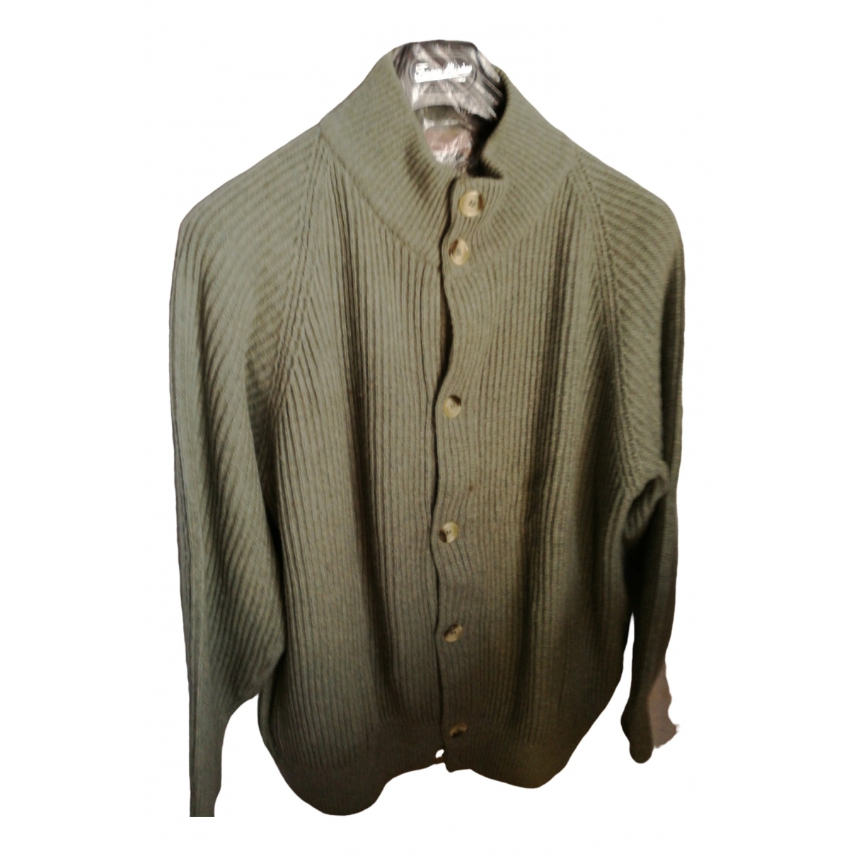 Non Signé / Unsigned \N Green Cashmere Knitwear & Sweatshirts for Men 52 IT