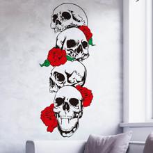 2sheets Skull Pattern Wall Sticker