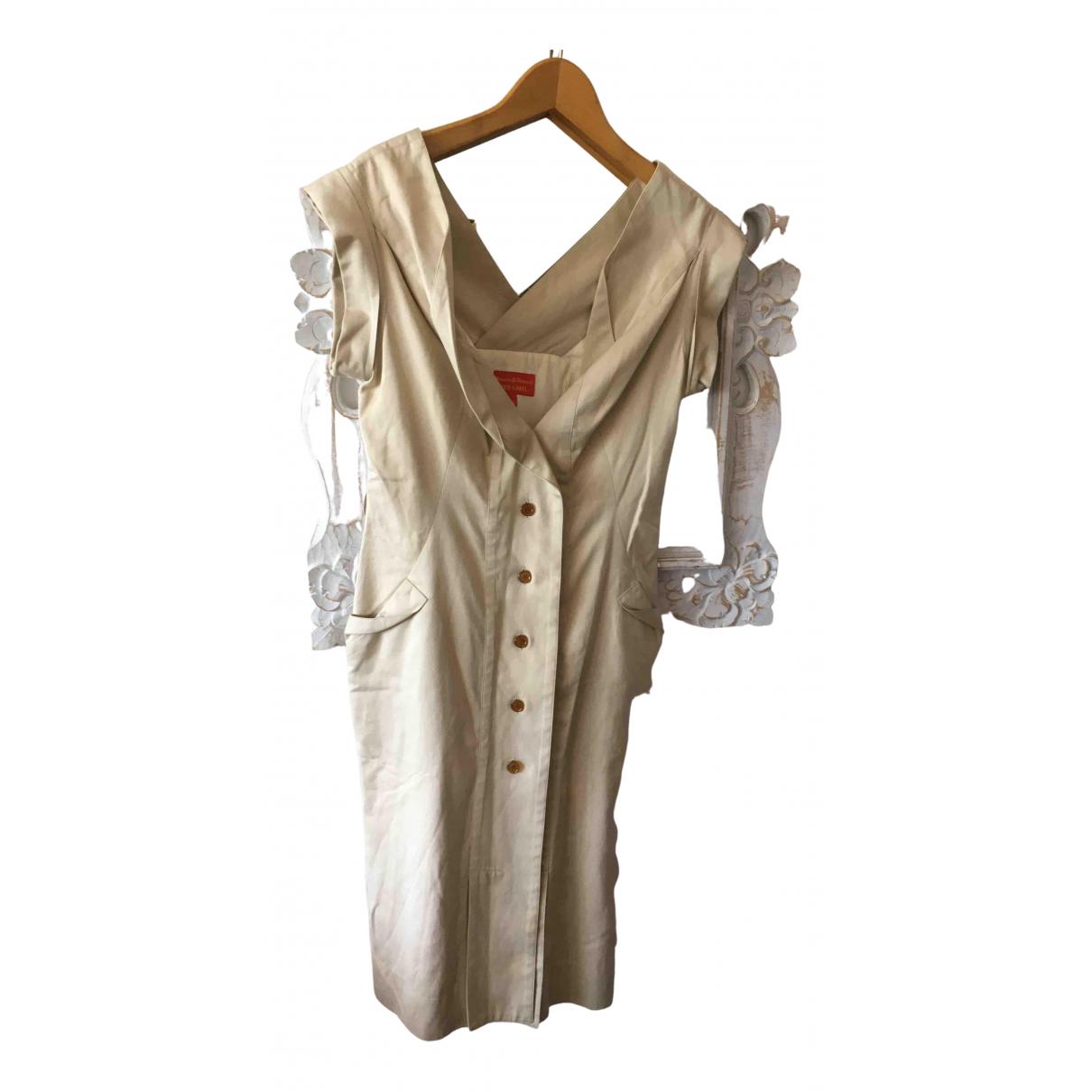 Vivienne Westwood Red Label \N Kleid in  Beige Baumwolle