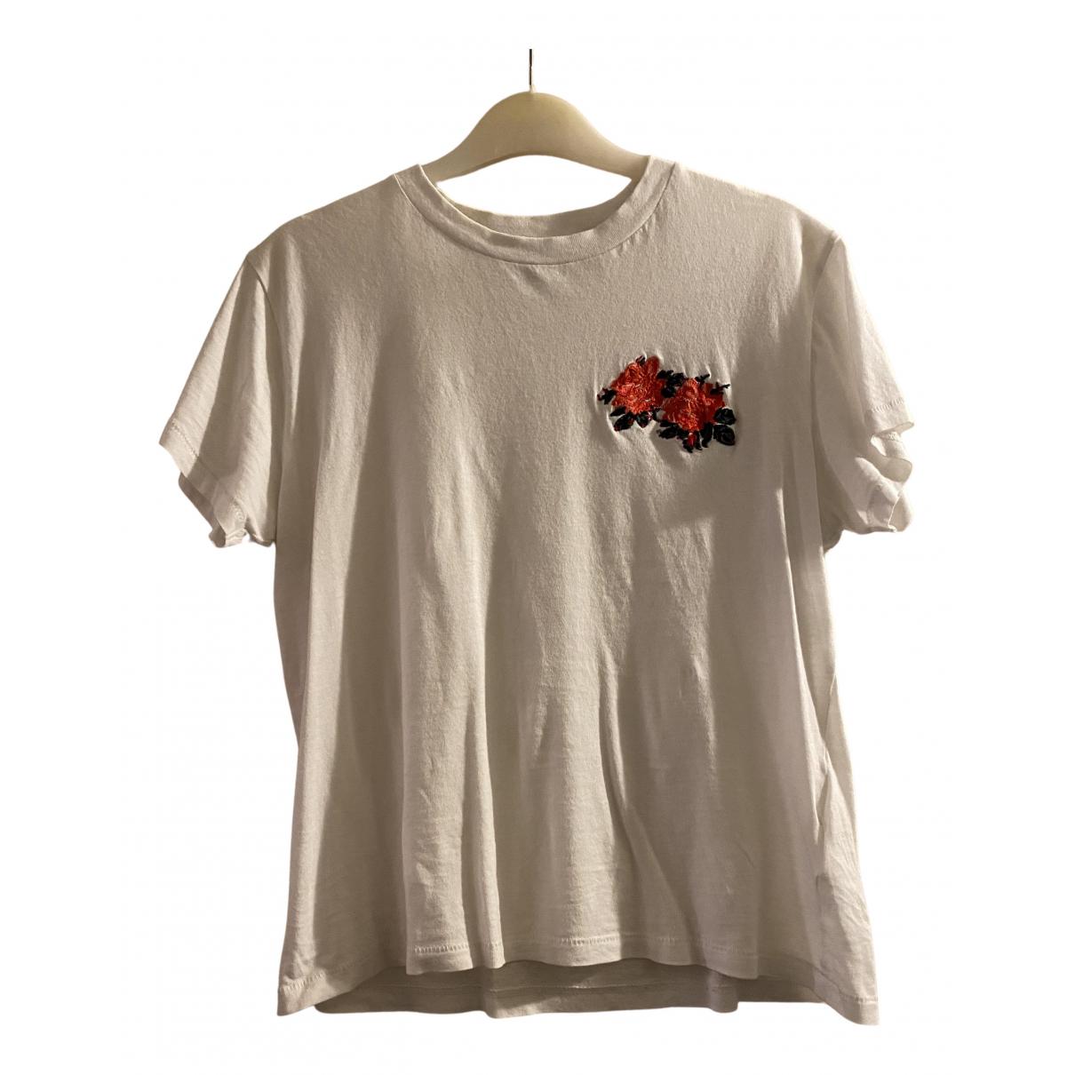Ganni - Top   pour femme en coton - blanc