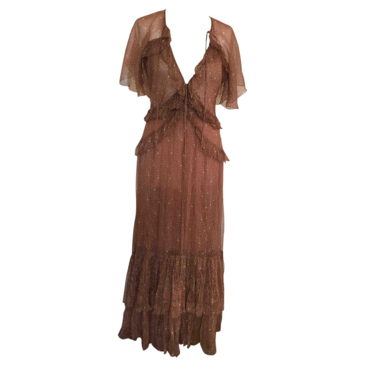 Doen - Robe   pour femme en soie - marron
