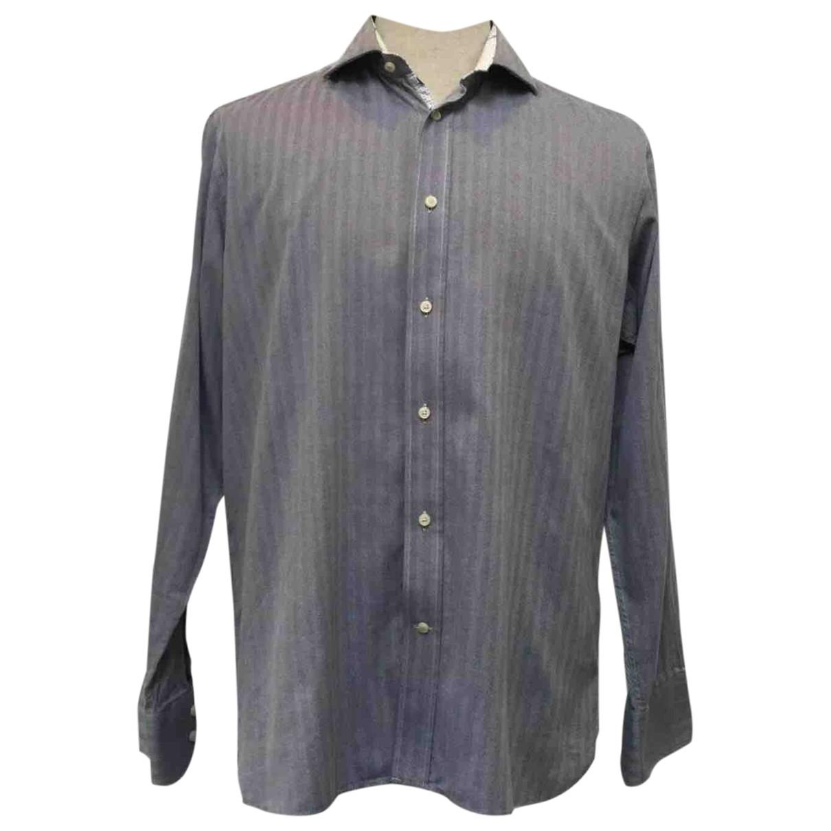 Ted Baker \N Hemden in  Blau Baumwolle