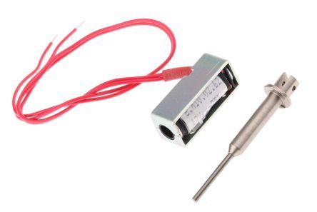 Mecalectro Push Pull Action DC D-Frame Solenoid, 3mm stroke, 7W, 12 V dc