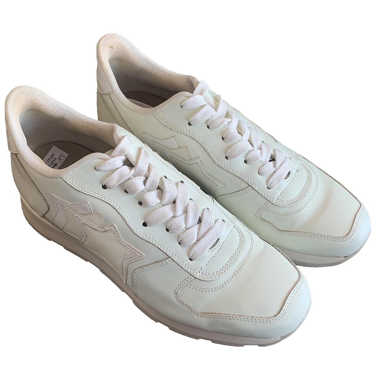 Atlantic Stars - Baskets   pour homme en cuir - blanc