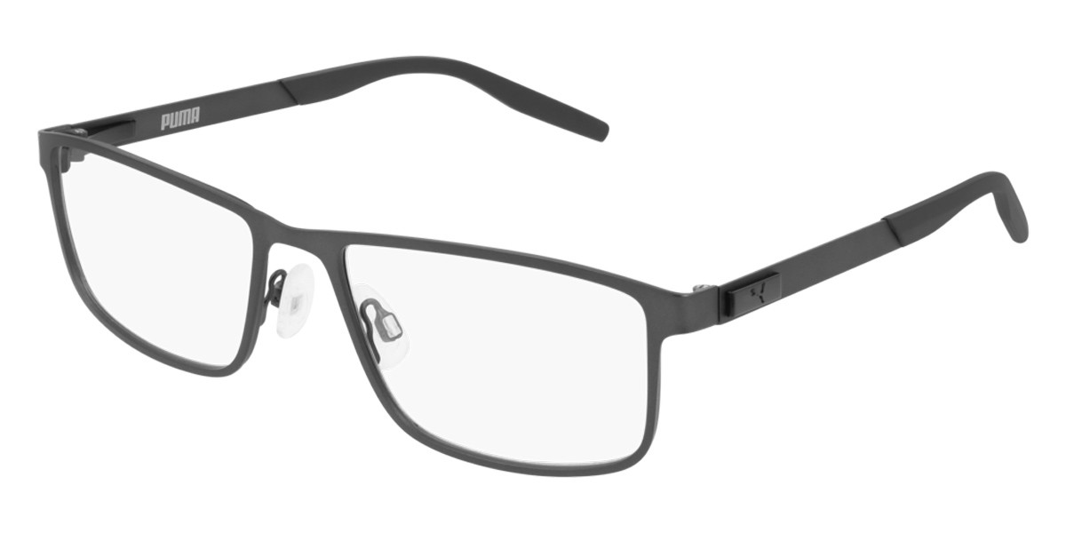 Puma PU0256O 002 Men's Glasses Grey Size 57 - Free Lenses - HSA/FSA Insurance - Blue Light Block Available