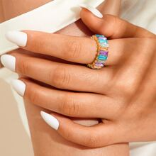 Colorful Thick Ring 1pc