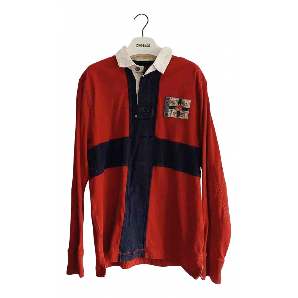 Polo Ralph Lauren \N Red Cotton Polo shirts for Men L International