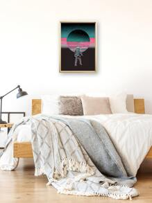 Astronaut Print Wall Painting Without Frame