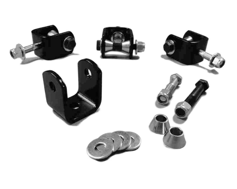 Steinjager J0015493 Drop Clevis Kits (Without End Links) Sway Bar End Links 10mm Bore Clevises are Zinc Plated Includes Misalignment Spacers Includes