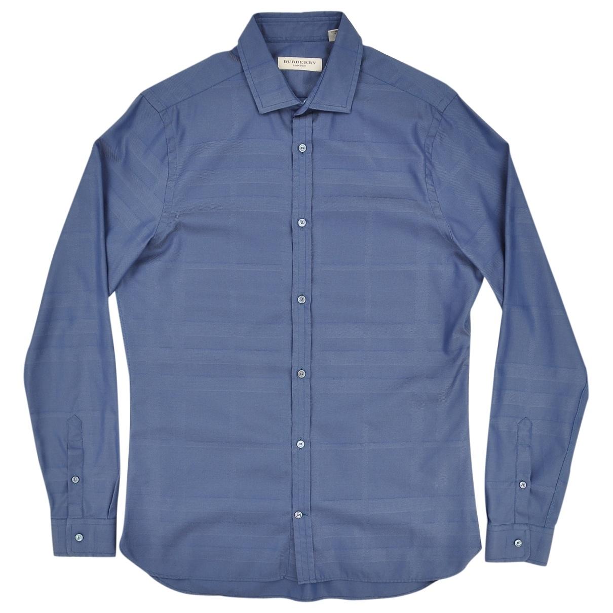 Burberry \N Navy Cotton Shirts for Men 38 EU (tour de cou / collar)