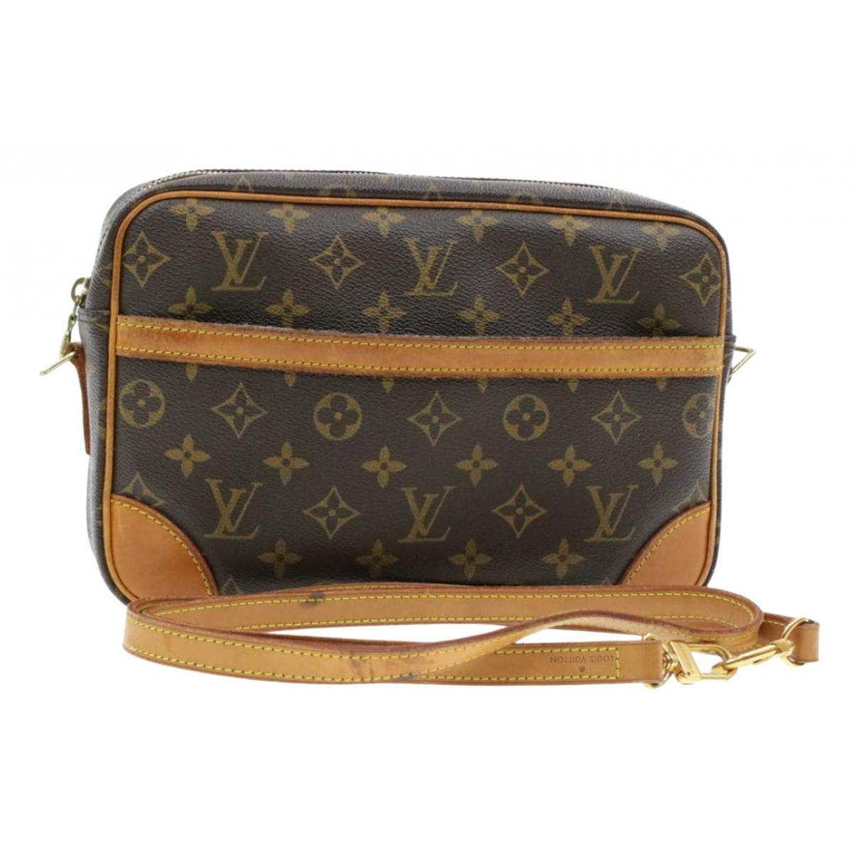 Louis Vuitton Trocadero Handtasche in  Braun Leinen