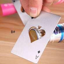1pc Stainless Steel Poker Shaped Bottle Opener