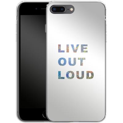 Apple iPhone 7 Plus Silikon Handyhuelle - Live Out Loud von Kaitlyn Parker