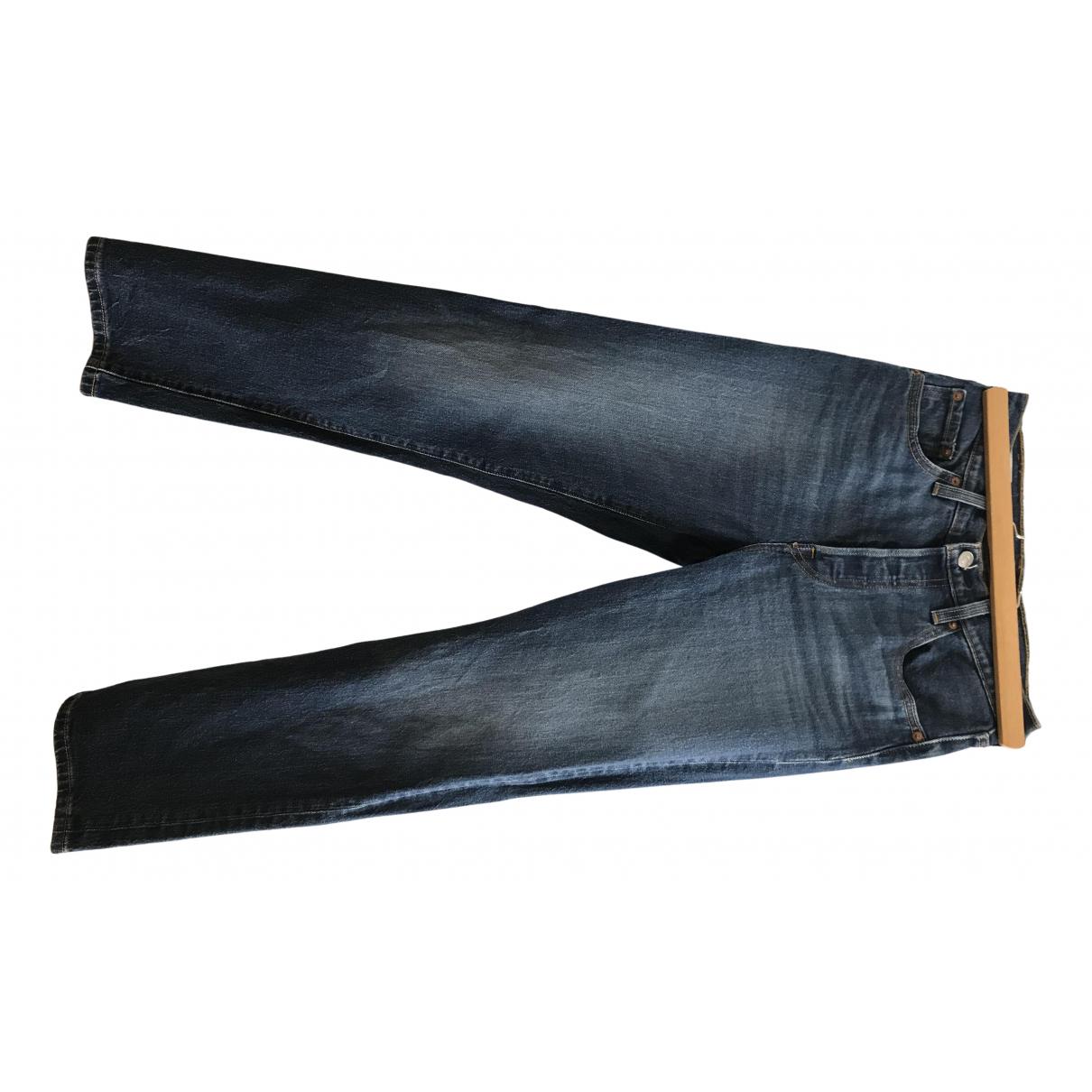 Levi's 501 Navy Denim - Jeans Jeans for Women 35 FR