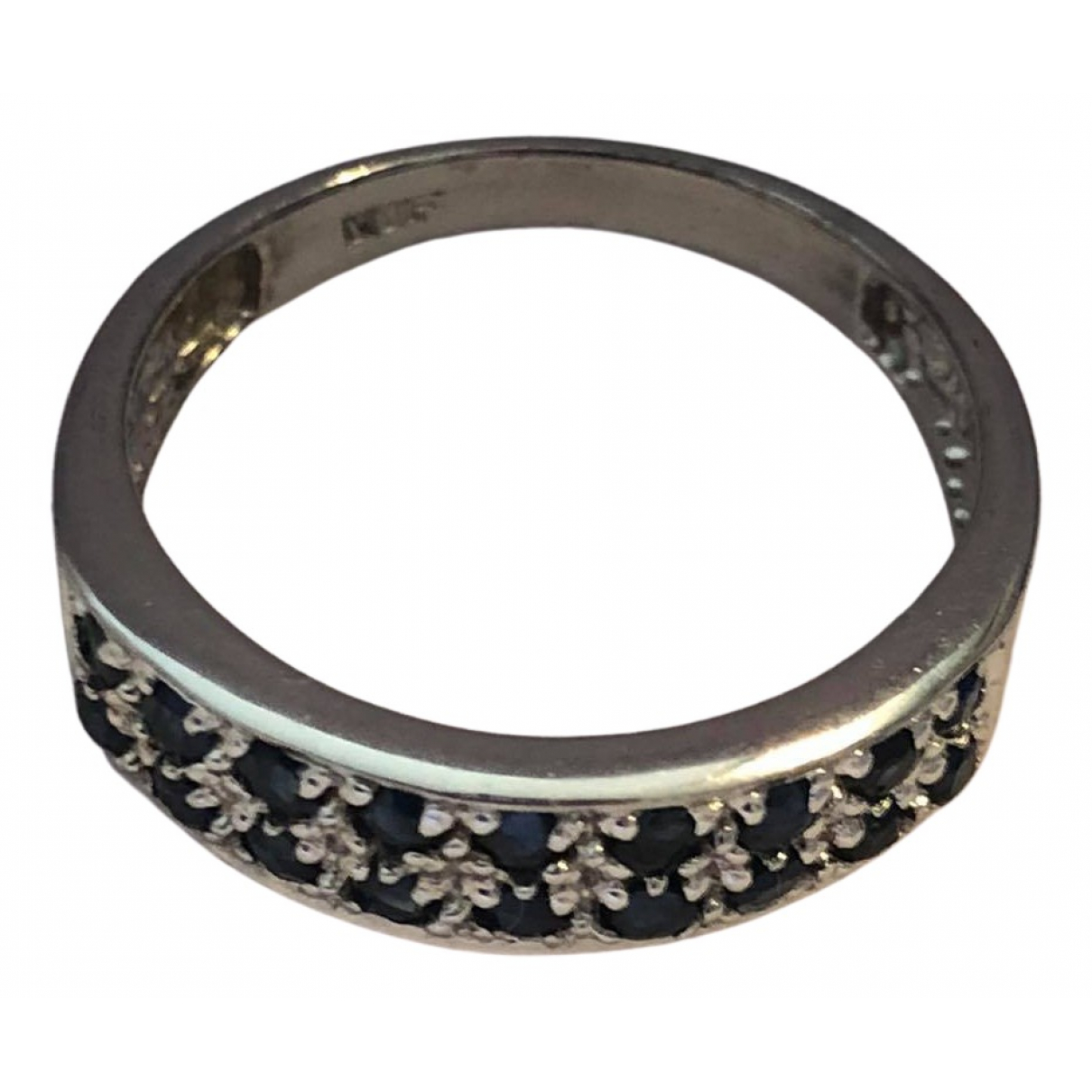 Non Signé / Unsigned Saphir Blue Silver ring for Women 8 ¾ US