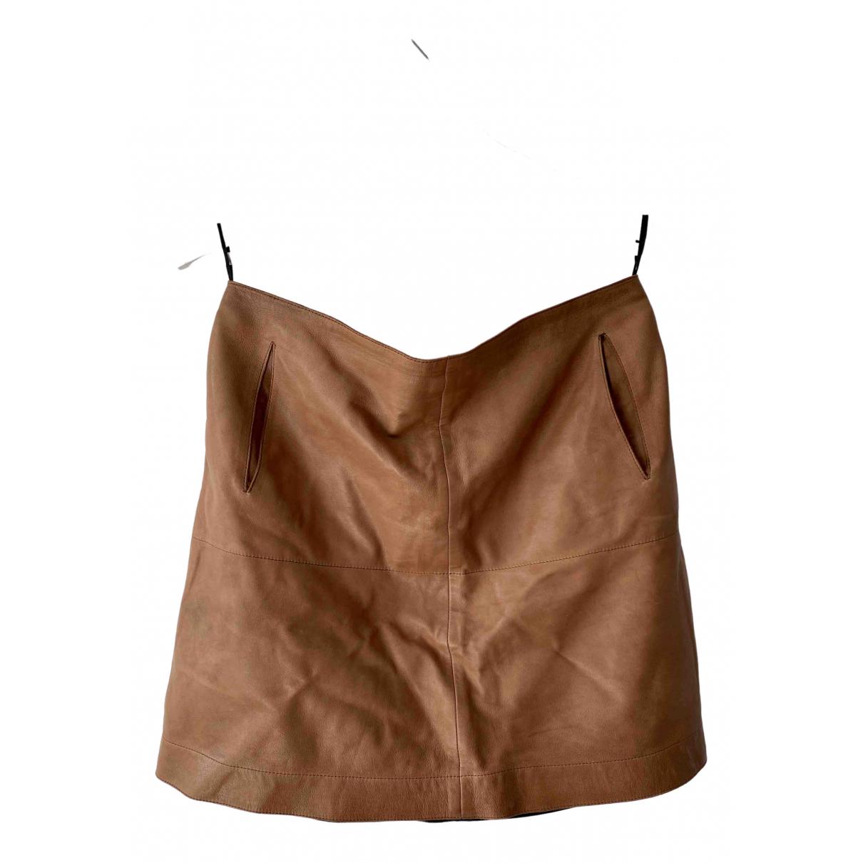 Filippa K - Jupe   pour femme en cuir - marron