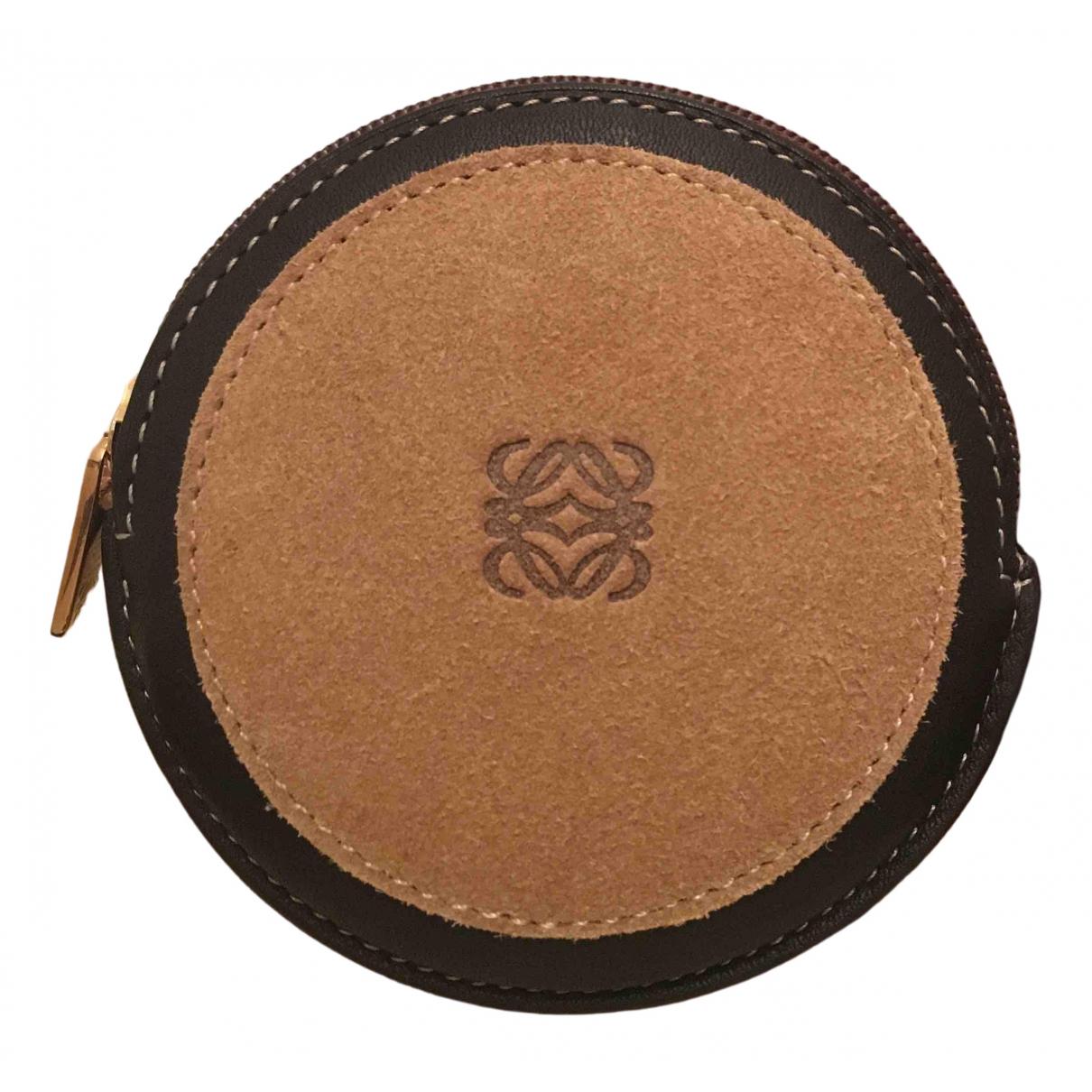 Loewe - Petite maroquinerie   pour femme en cuir - marron