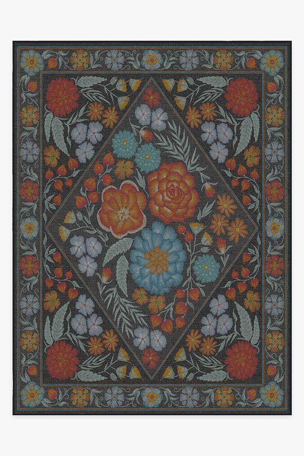 Washable Rug Cover & Pad | Prado Black Opal Rug | Stain-Resistant | Ruggable | 9'x12'
