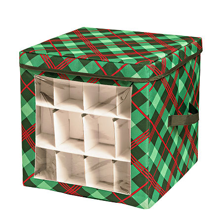 Honey-Can-Do Ornament Storage, One Size , Green