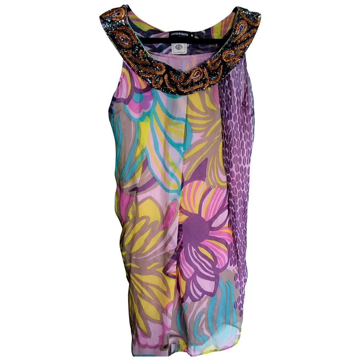 Vestido midi de Seda Antik Batik